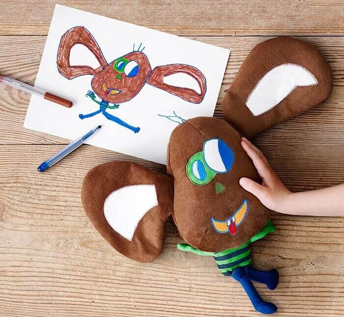 Изготовление мягких игрушек по детским рисункам