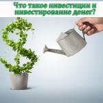Что такое инвестиции и инвестирование денег?
